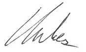 Charles Irvin signiture